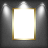Blank empty white frame Royalty Free Stock Photography