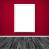 Blank empty white frame Stock Image