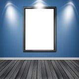 Blank empty white frame Royalty Free Stock Photos