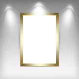 Blank empty white frame. High resolution texture Stock Photography