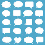 Blank empty white speech bubbles Royalty Free Stock Photo