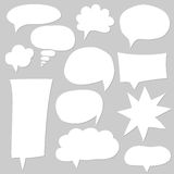 Blank empty white speech bubbles Royalty Free Stock Image