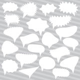 Blank Empty White Speech bubbles set on gray background for your design. Vector Royalty Free Stock Photography