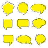 Blank empty white speech bubbles. Stickers of speech bubbles vector set. Stock Image