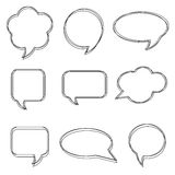 Blank empty white speech bubbles. Stickers of speech bubbles vector set Royalty Free Stock Image