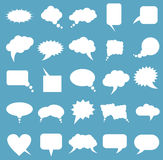 Blank empty white speech bubbles Royalty Free Stock Photography