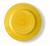 Blank and emty yellow dish Stock Images