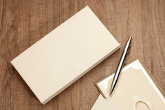 Blank envelop with card Stock Photography