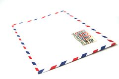 Blank envelope. With usa stamp Royalty Free Stock Photo