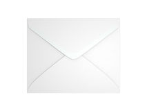 Blank Envelope. A blank envelope isolated on white background. Computer generated image with clipping path Royalty Free Stock Photo
