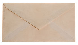 Blank envelope. Closed envelope from the back, vintage and well worn Royalty Free Stock Images