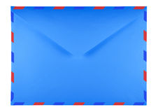 Blank envelope - blue Stock Photography