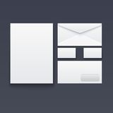 Blank envelope, business card and paper Stock Image