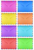 Blank envelope - colorful Royalty Free Stock Photo