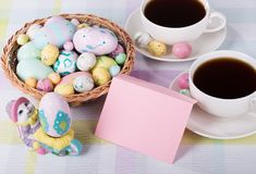 Easter Decorations and Envelope Royalty Free Stock Image