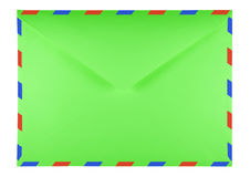 Blank envelope - green Royalty Free Stock Photography