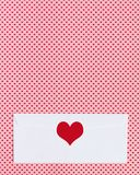 Blank envelope with heart decoration royalty free stock image