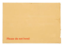 Blank envelope for important documents. Royalty Free Stock Photography