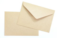 Blank envelope Royalty Free Stock Photography
