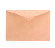 Blank envelope isolated on white background. With clipping path Stock Photography