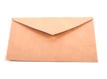 Blank envelope isolated. On white background with clipping path Royalty Free Stock Photography