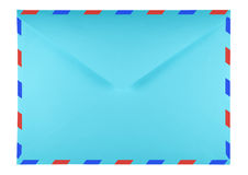 Blank envelope - light blue Royalty Free Stock Photo