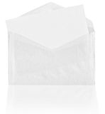 Blank envelope with reflection Royalty Free Stock Image