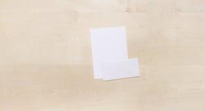 Blank envelope on wood Royalty Free Stock Photo
