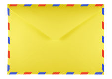 Blank envelope - yellow Royalty Free Stock Photo
