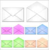 Blank Envelopes Royalty Free Stock Images