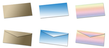 Blank envelopes Royalty Free Stock Photo