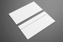 Blank envelopes on dark background Stock Image