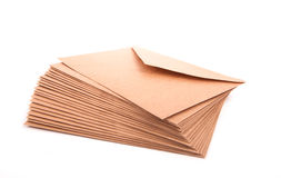 Blank envelopes. On white background with clipping path Stock Photos