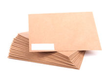 Blank envelopes  on white background with clipping path Royalty Free Stock Photos