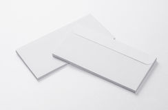 Blank Envelopes  on white background. With soft shadows Stock Photo