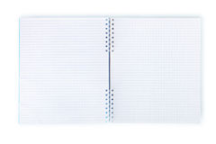 Blank exercise book  on white. Clipping path. Stock Photos