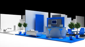 Blank exhibition booth, 3d rendering Royalty Free Stock Image