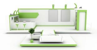 Blank exhibition booth. Exhibition stand, original three dimensional illustration vector illustration