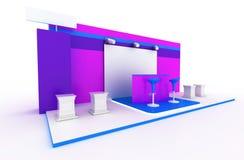 Blank exhibition booth. Exhibition stand, original three dimensional illustration stock illustration