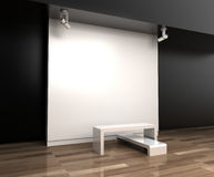 Blank exhibition hall, 3d rendering Stock Image