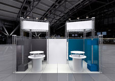 Blank exhibition stand Royalty Free Stock Photo