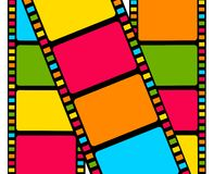 blank färgrik filmremsa Arkivbild