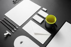 blank företags identitet fotografering för bildbyråer