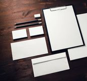 blank företags identitet royaltyfri fotografi