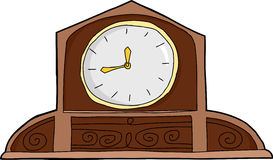 Blank Face Mantle Clock Royalty Free Stock Photography