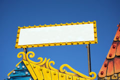 Blank fair sign Royalty Free Stock Photography