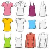 Blank fashion set Stock Image