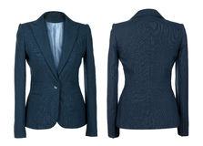 Blank female blue business suit Stock Images