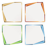Blank festive stickers Stock Photo