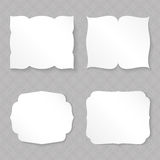 Blank figured paper cards. Set template Royalty Free Stock Image